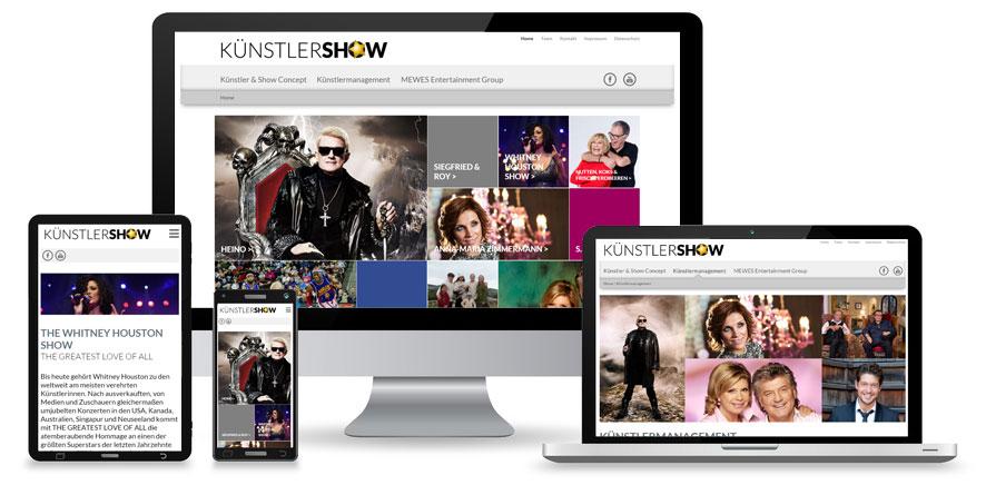 Responsive-Webdesign-Künstlershow