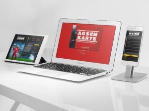 Website HEINO Arschkarte Responsive